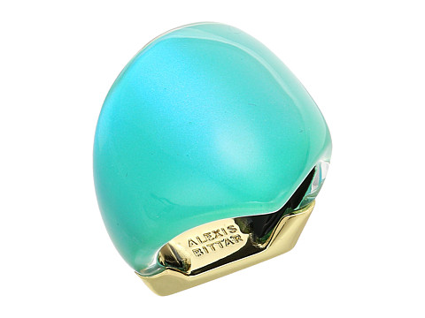 Alexis Bittar Asymmetrical Block Ring - Turquoise Opalescent Clear