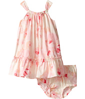 Kate Spade New York Kids - Bow Neck Ruffle Dress Set (Infant)