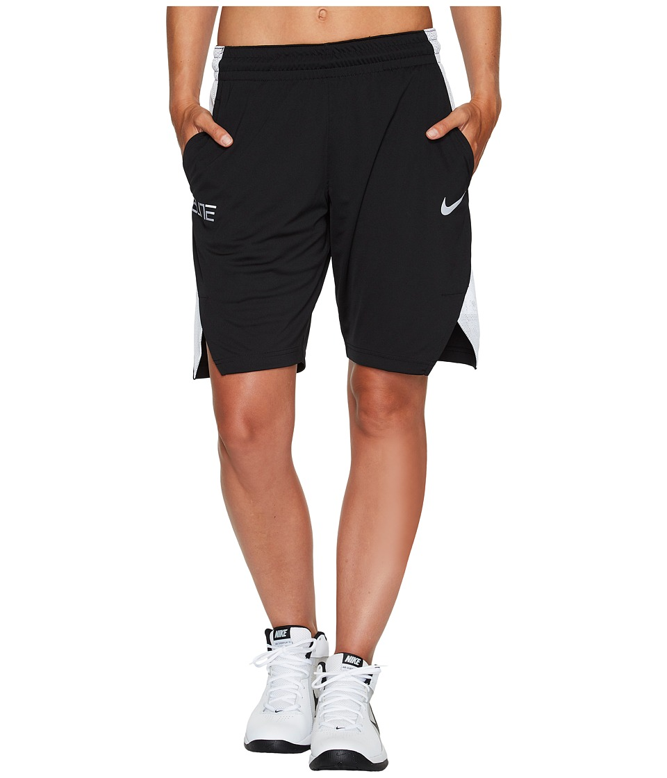 Nike Dry Elite 9 Basketball Short (Black/White/White/White) Women