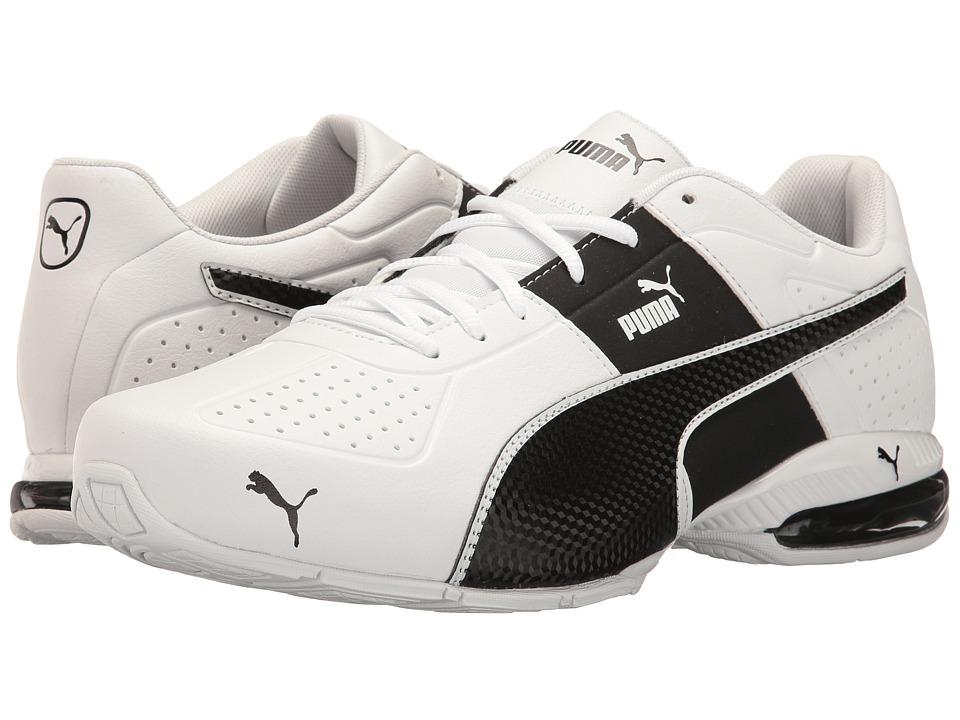 PUMA - Cell Surin 2 FM (Puma White/Puma Black 1) Mens Lace up casual Shoes