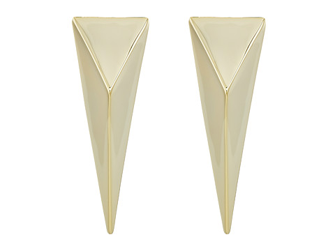 Alexis Bittar Pyramid Post Earrings - 10K Gold