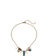 Alexis Bittar - Geometric Multi Stone Bib with Satellite Crystal Spikes Necklace