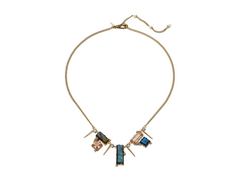 Alexis Bittar Geometric Multi Stone Bib with Satellite Crystal Spikes Necklace
