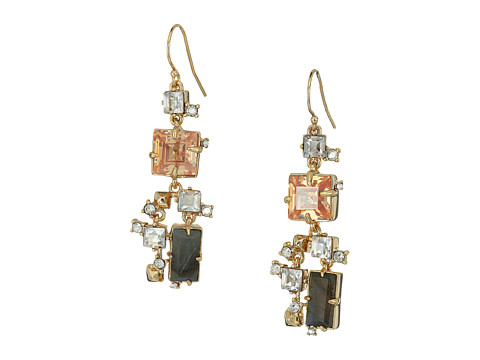 Alexis Bittar Geometric Multi Stone Wire with Satellite Crystal Detail Earrings - 10K Gold