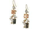Alexis Bittar Geometric Multi Stone Wire with Satellite Crystal Detail Earrings