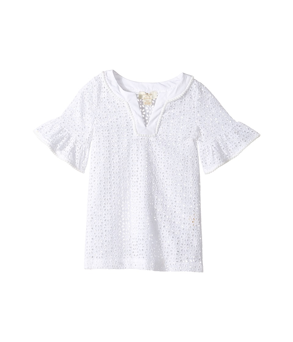Kate Spade New York Kids Eyelet Cover-Up (Toddler/Little Kids) (Fresh White) Girl
