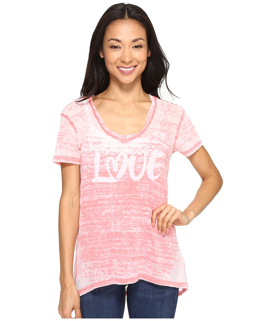 Allen Allen Love Print High-Low Tee (Begonia) Women