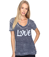 Allen Allen - Love Print High-Low Tee
