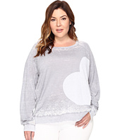 Allen Allen - Plus Size Side Heart Print Sweatshirt