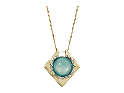 Alexis Bittar Crystal Encrusted Geometric Pendant Necklace