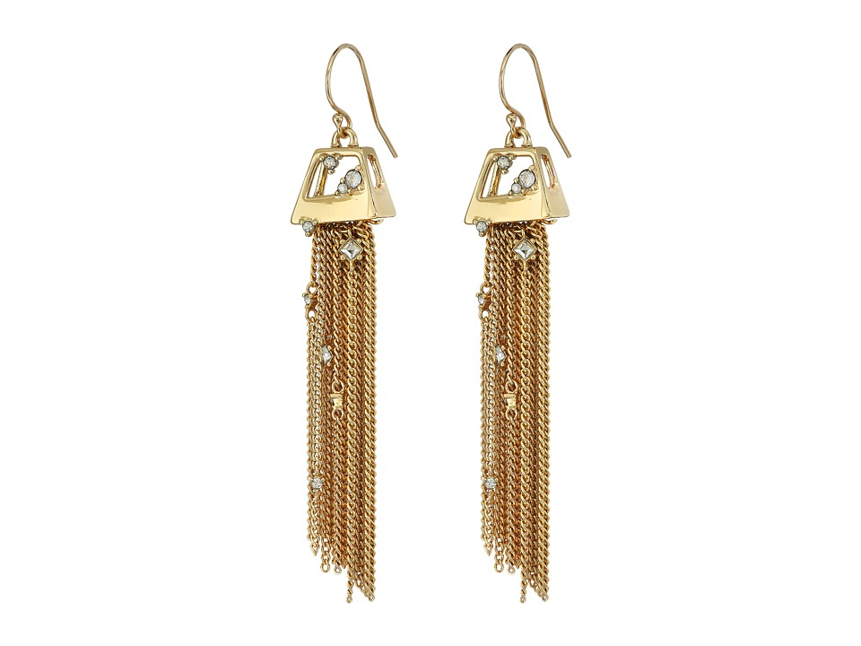 Alexis Bittar - Geometric Tassel Wire with Crystal Detail Earrings