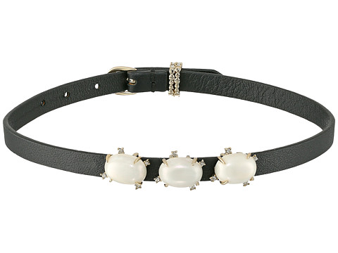 Alexis Bittar Stone Leather Wrap Bracelet and Choker Necklace - 10K Gold