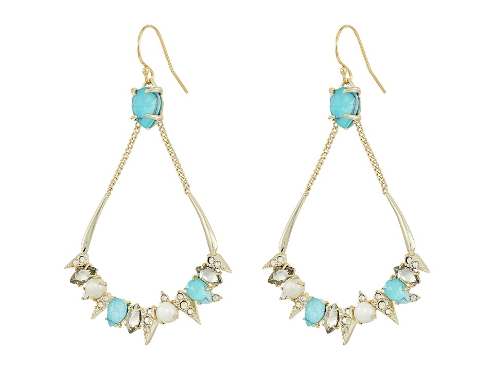 Alexis Bittar Pave Spike Stone Cluster Wire Earrings (10K...