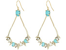 Alexis Bittar Pave Spike Stone Cluster Wire Earrings