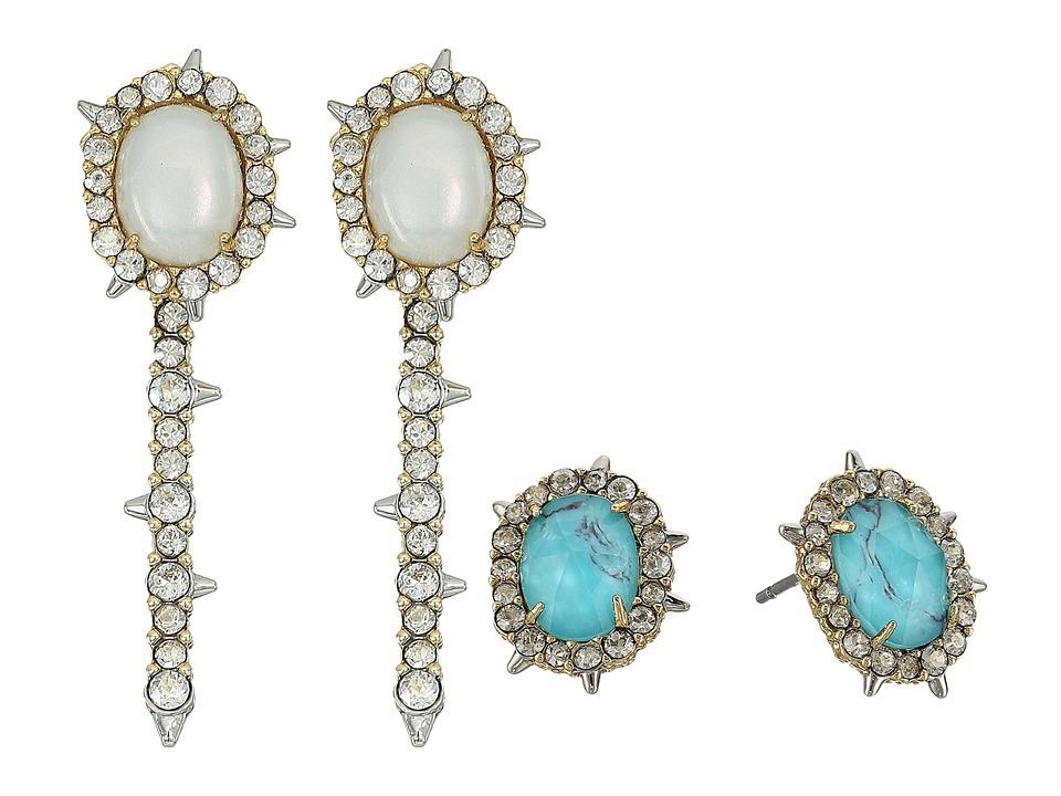 Alexis Bittar - Crystal Encrusted Spike Studded Jacket Set Earrings