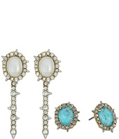 Alexis Bittar - Crystal Encrusted Spike Studded Jacket Set Earrings