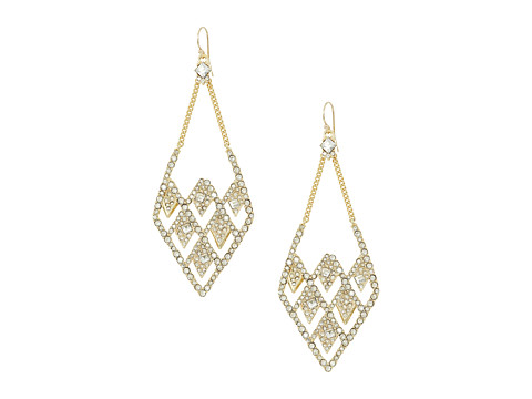 Alexis Bittar Crystal Encrusted Spiked Lattice Wire Earrings