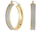 Steve Madden - Glitter Hoop Earrings