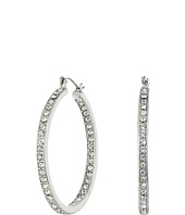 Steve Madden - Rhinestone Hoop Earrings