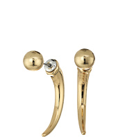 Steve Madden - Ball and Horn Front to Back Earrings