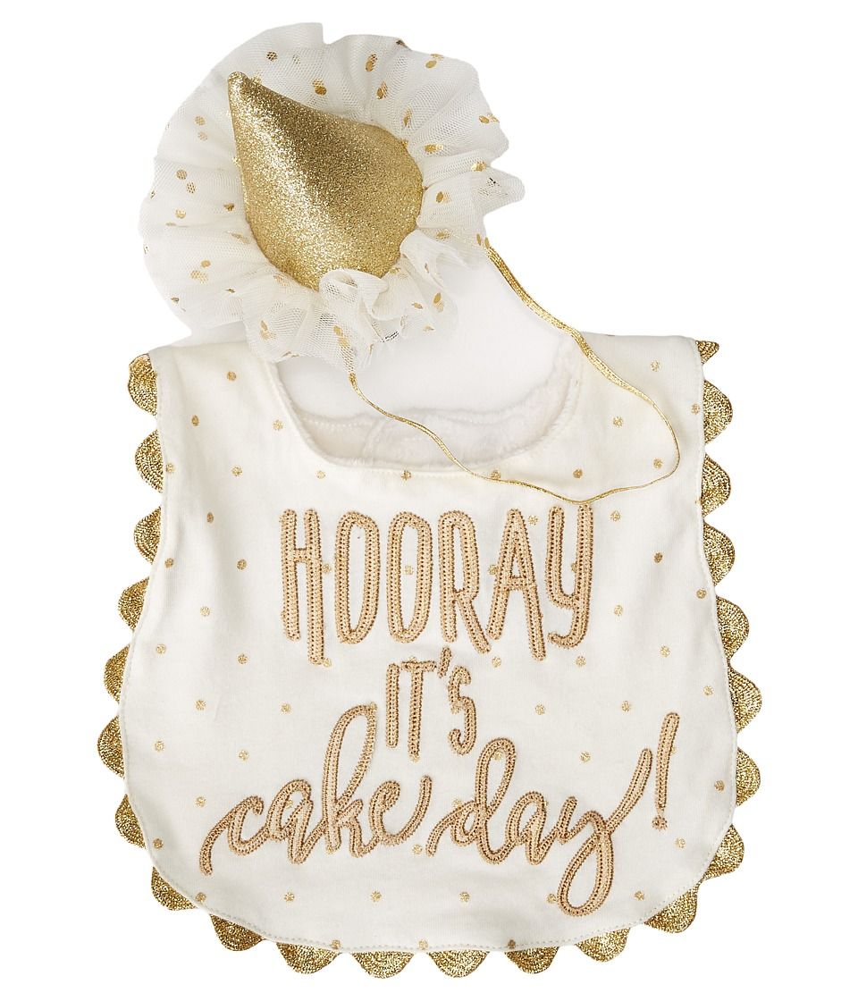 Mud Pie - Gold Cake Smashing Set (White) Accessories Travel