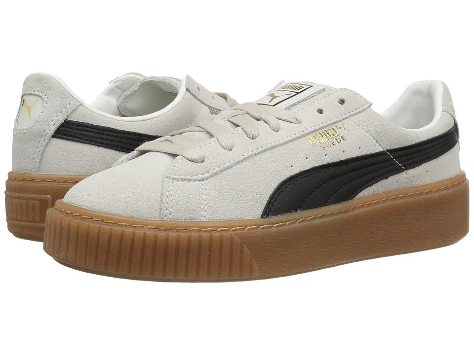 Puma Suede Platform Core (Whisper White/Puma Black) Women...