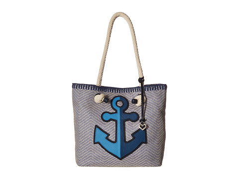 Brighton Cruiser Knotted Soft Tote - Blue/Natural