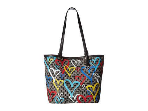 Brighton Initially Yours Heartburst Tote - Black Multi