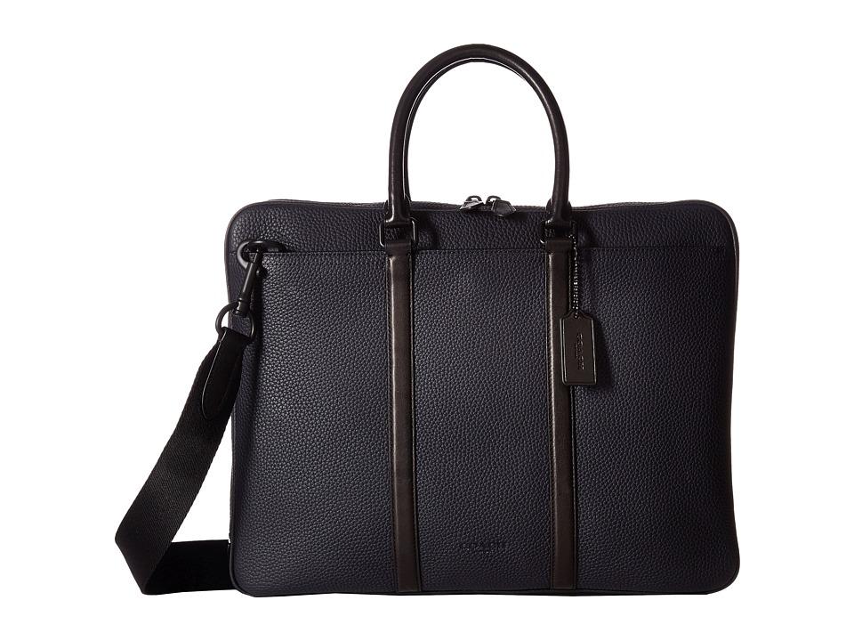 COACH - Harness Metropolitan Brief (Black/Midnight Black) Briefcase Bags