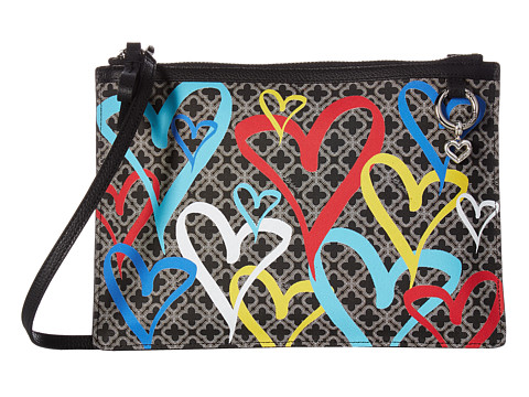 Brighton Initially Yours Heartburst Pouch - Black Multi