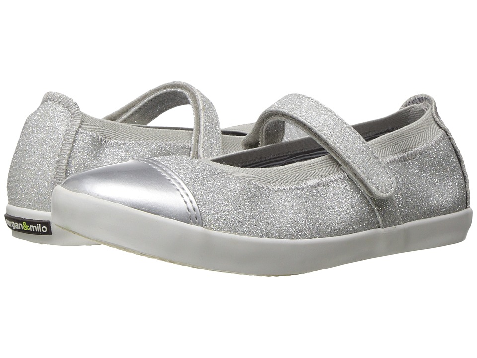 Morgan + Milo Olivia Mary Jane (Toddler/Little Kid) (Silver) Girls Shoes