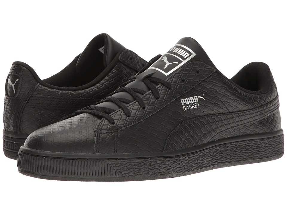 PUMA - Basket Classic BW (PUMA Black) Mens Shoes