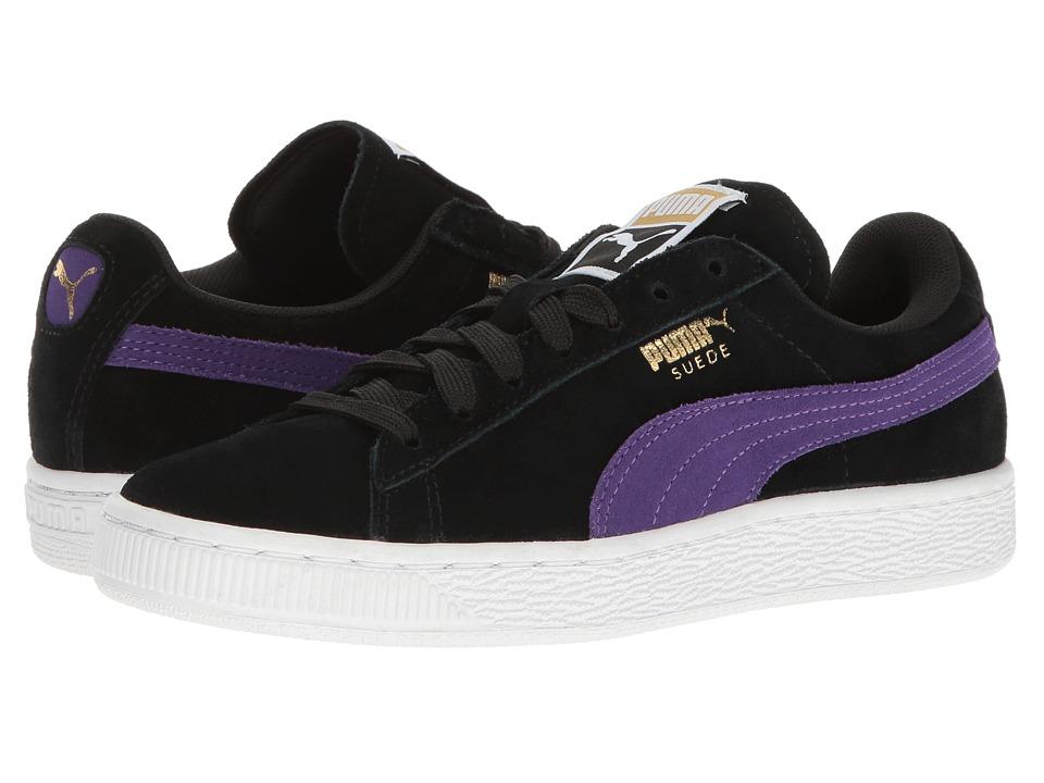 PUMA - Suede Classic (Puma Black/Royal Purple) Womens Shoes