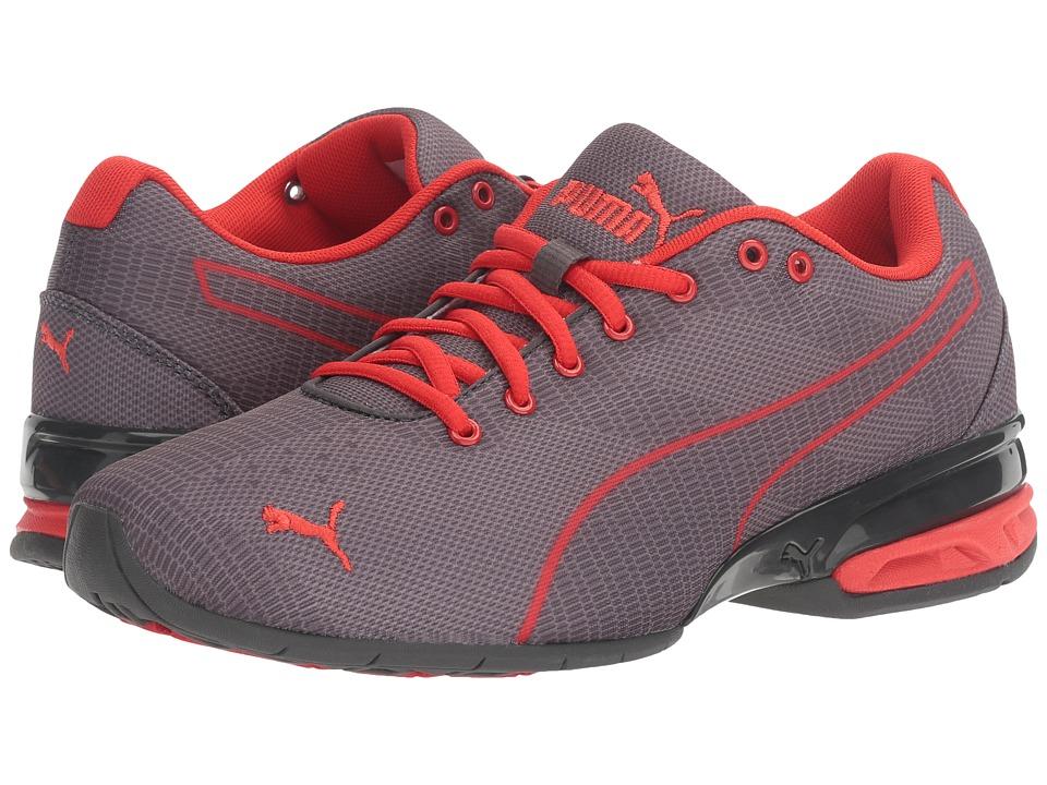 PUMA - Tazon 6 Wov (Quarry/Asphalt/High Risk Red) Mens Shoes