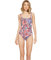 Tommy Bahama - Java Blossom Over-The-Shoulder Crossback One-Piece Swimsuit