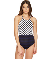 Tommy Bahama - Channel Surfing High-Neck One-Piece Swimsuit