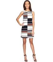 Adrianna Papell - Sleeveless Ottoman Stripe Shift Dress