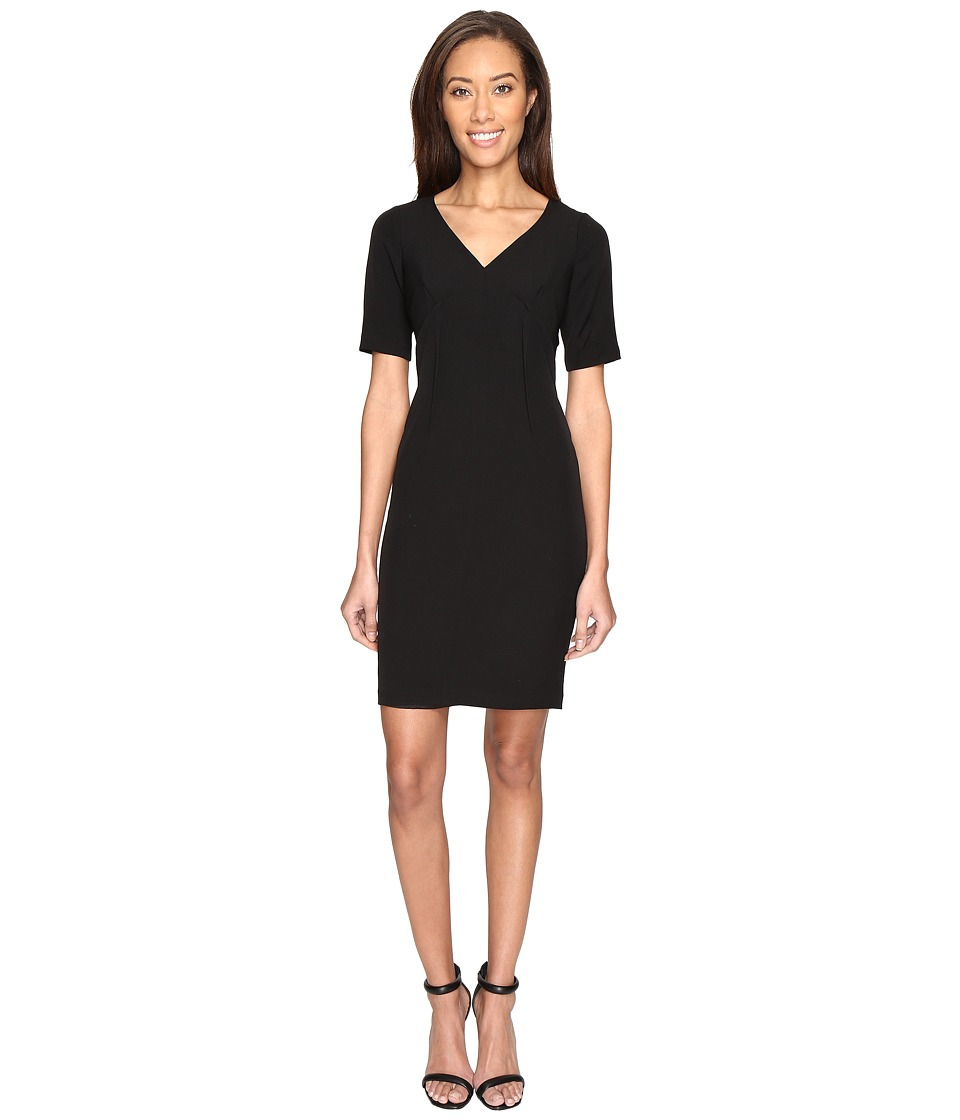 Adrianna Papell - Exposed Dart Stretch Crepe Dress