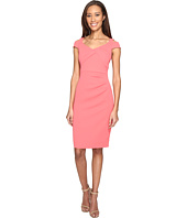 Adrianna Papell - Power Stretch Sheath Dress with Cold Shoulder and Draped Bodice