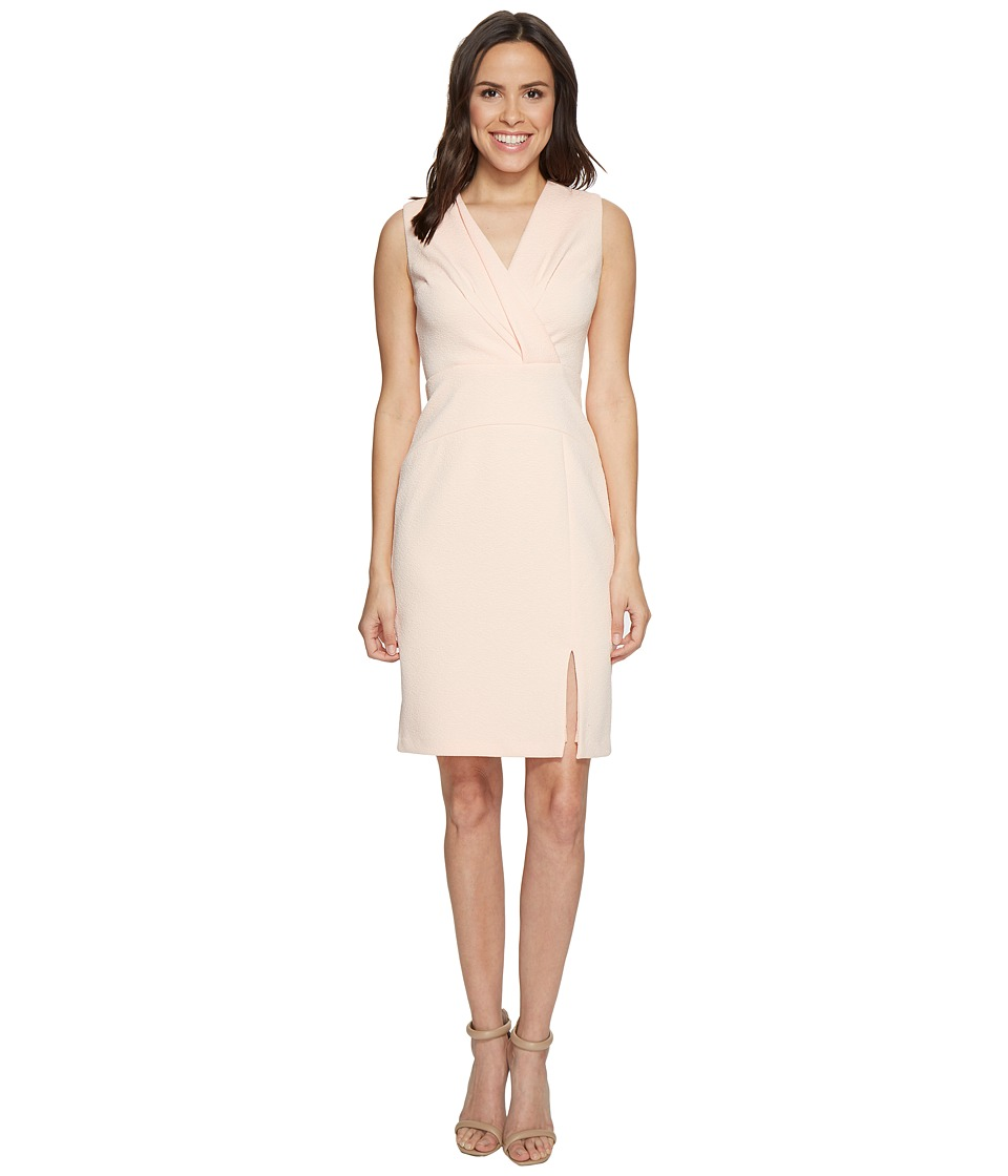 Adrianna Papell - Sleeveless Center Front Fold Detail Fitted Dress