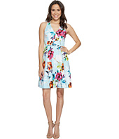 Adrianna Papell - Marlowe Posy Printed Jacquard Fit and Flare Sundress