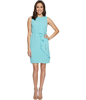Adrianna Papell - Gauzy Crepe Draped Front Dress