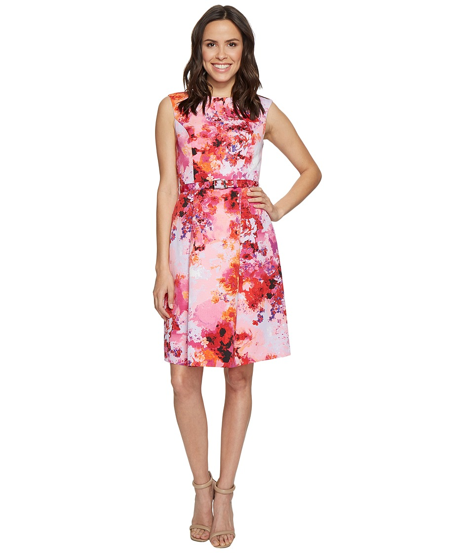 Adrianna Papell - Garden Escapades Printed Faille Fit and Flare Dress