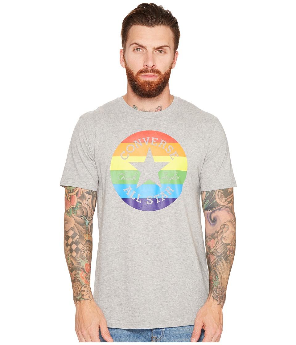Converse Pride Chuck Patch Rainbow Tee (Vintage Grey Heather) Men