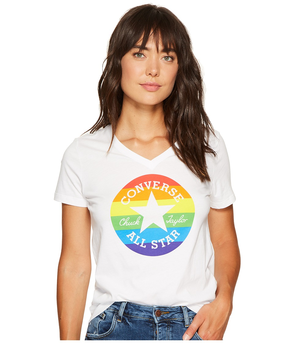 Converse Pride Rainbow Chuck Patch Tee (White) Women