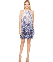 Adrianna Papell - Fading Splendor Printed Stretch Chiffon Pleated Trapeze Dress