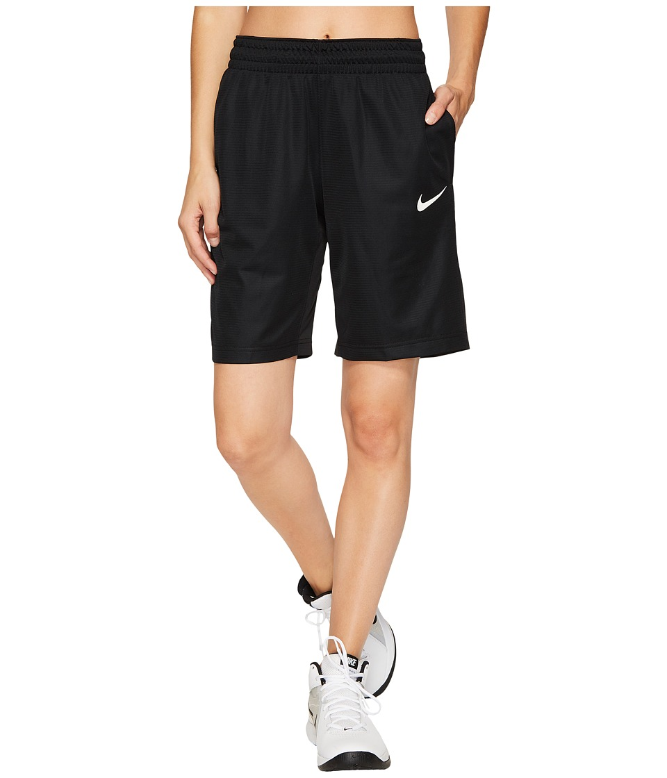 Nike Dry Essential 10 Basketball Short (Black/Black/White/White) Women