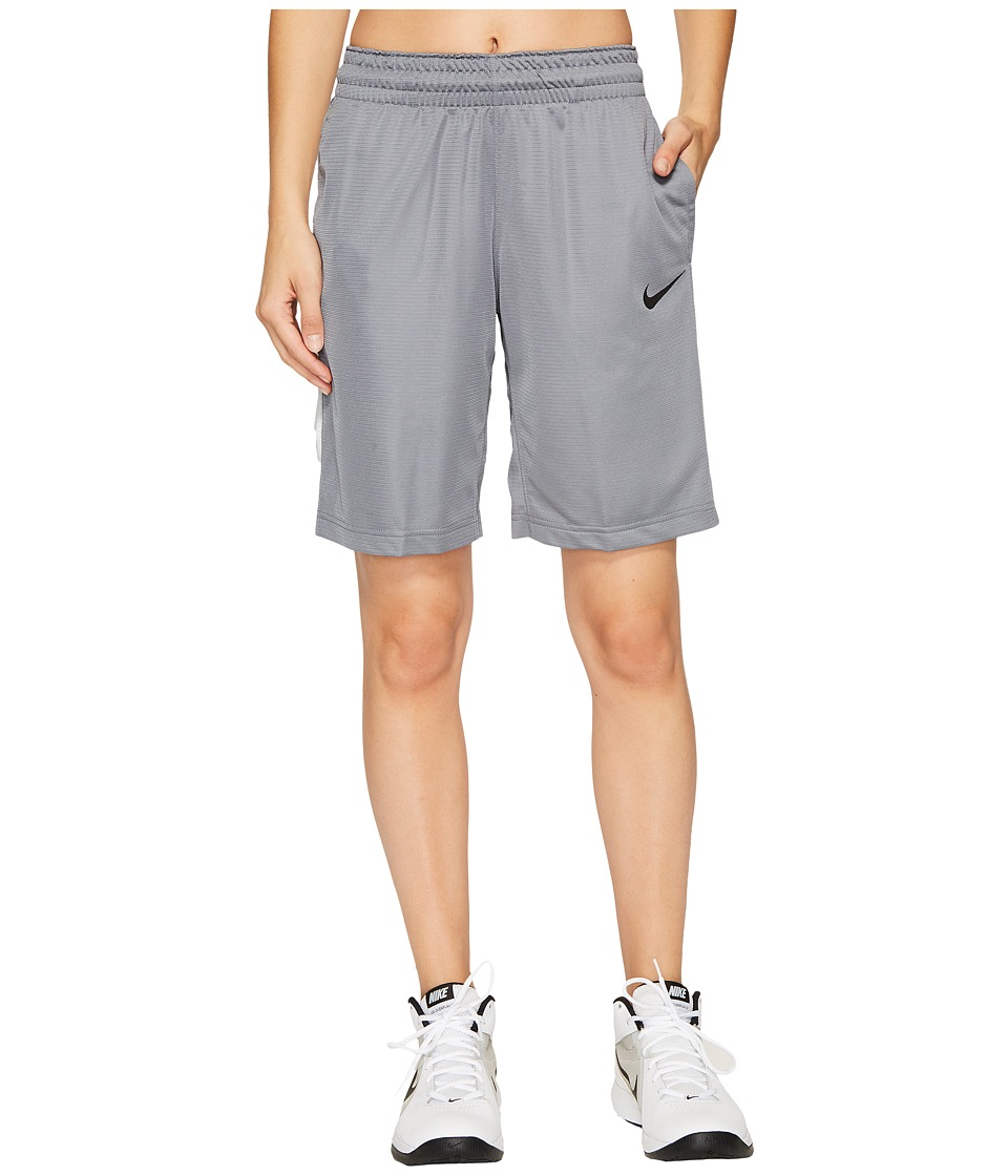 Nike Dry Essential 10 Basketball Short (Cool Grey/Pure Platinum/White/Black) Women