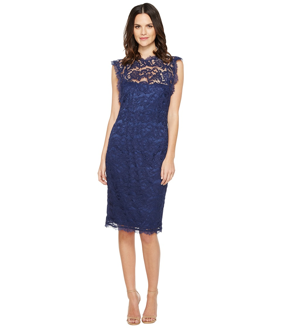 Adrianna Papell - Nouveau Scroll Lace Cocktail Dress