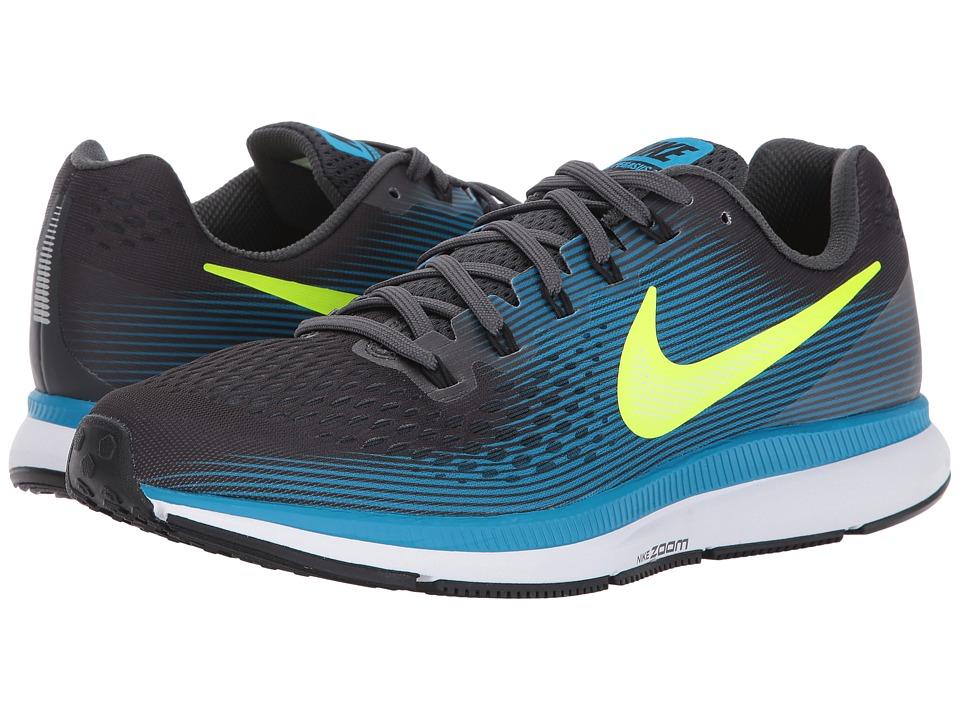 Nike Air Zoom Pegasus 34 (Anthracite/Volt/Blue Orbit/Black) Men
